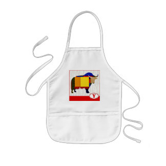 Y is for Yak Kids' Apron