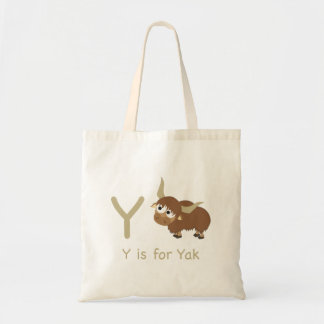 Y is for Yak Tote Bag
