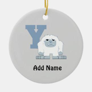 Y is for Yeti Ceramic Ornament