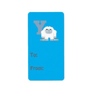 Y is for Yeti Label