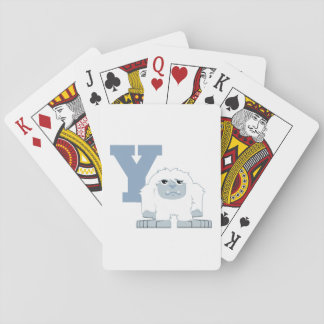 Y is for Yeti Playing Cards