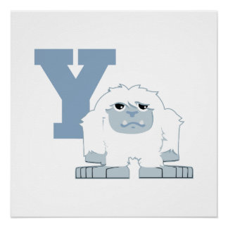 Y is for Yeti Poster