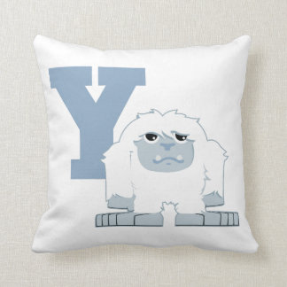 Y is for Yeti Throw Pillow