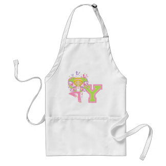 Y is for Yoga Girl Adult Apron