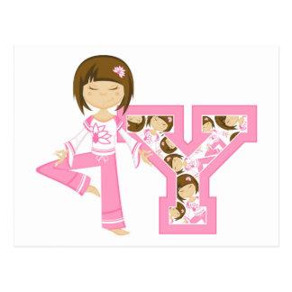 Y is for Yoga Girl Postcard
