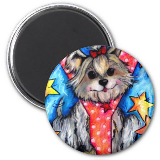 Y is for Yorkie 2 Inch Round Magnet