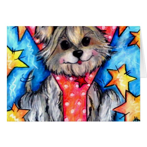 Y is for Yorkie Card