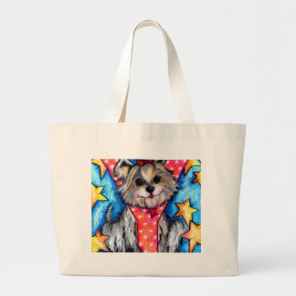Y is for Yorkie Large Tote Bag