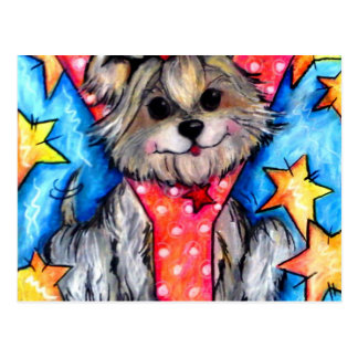 Y is for Yorkie Postcard