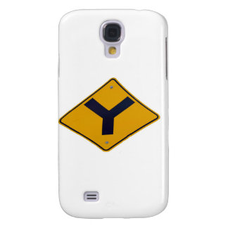 Y Junction Yellow Signpost Samsung Galaxy S4 Case