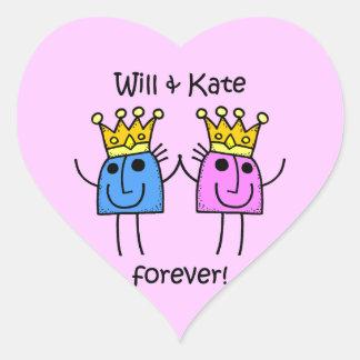 Y Kate Pegatina En Forma De Corazón