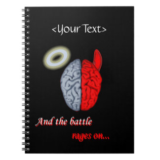 Y las rabias de la batalla en (bueno contra mal) libros de apuntes con espiral