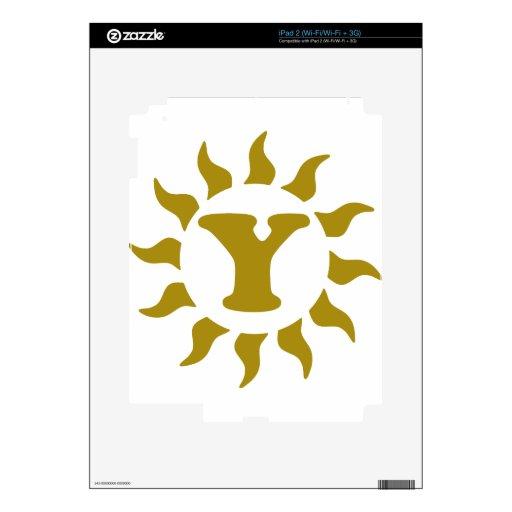 Y-Letter-Sun.png Skins Para eliPad 2