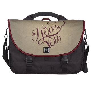 Y Love You Vintage Message Design Bags For Laptop