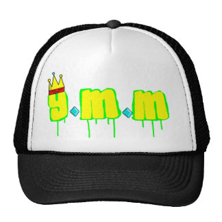 y.m.m white baseball cap with net