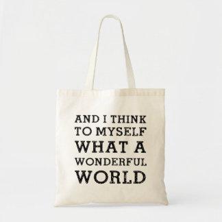 Y mundo maravilloso bolsa