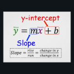 "Y=MX B POSTER<br><div class=""desc"">Graphing Equations.  (Slope Intercept form - Descriptions)</div>"