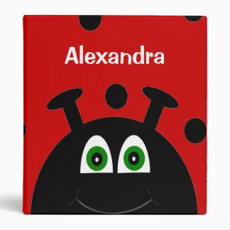 Y negra escuela personalizada mariquita roja