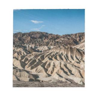 y PA de Death Valley California de los mointains Bloc De Papel