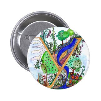 Y painted 2 inch round button
