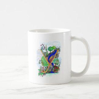 Y painted coffee mug