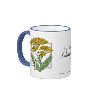 Y para el alfabeto de la flor de la milenrama taza de dos colores