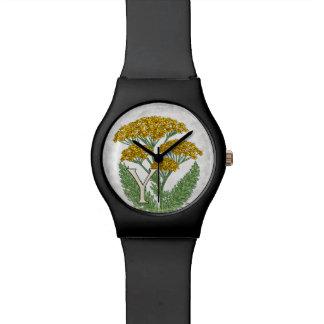 Y para el alfabeto floral Monagram del arte de la Reloj
