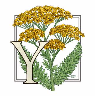 Y para el monograma de la flor de la milenrama fotoescultura vertical
