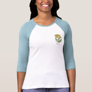 Y para el monograma de la flor de la milenrama camisetas