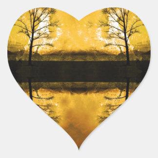 Y podemos estar rotos juntos pegatina en forma de corazón