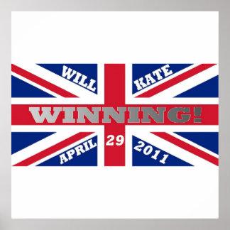 Y poster del boda de Kate que gana
