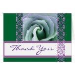 Y púrpura el boda subió cordón verde le agradece felicitación