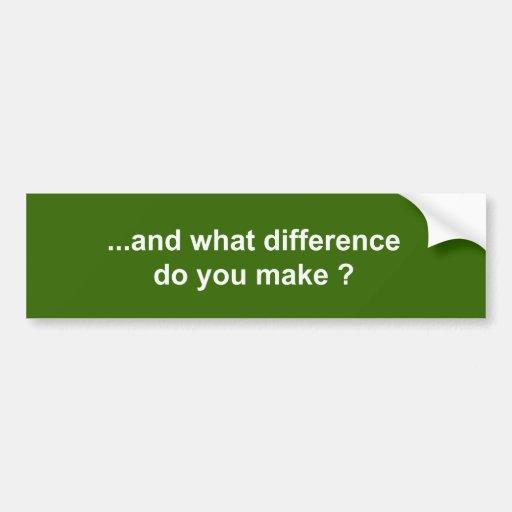 y qué diferencia usted hace pegatina para auto