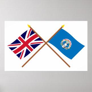 Y septentrionales banderas cruzadas Mariana BRITÁN Póster