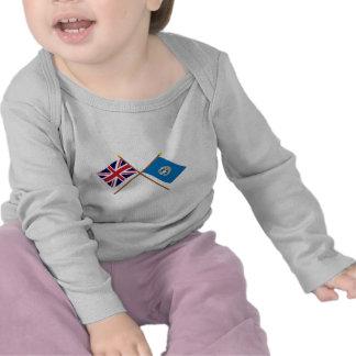 Y septentrionales banderas cruzadas Mariana Camisetas