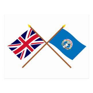 Y septentrionales banderas cruzadas Mariana Postal