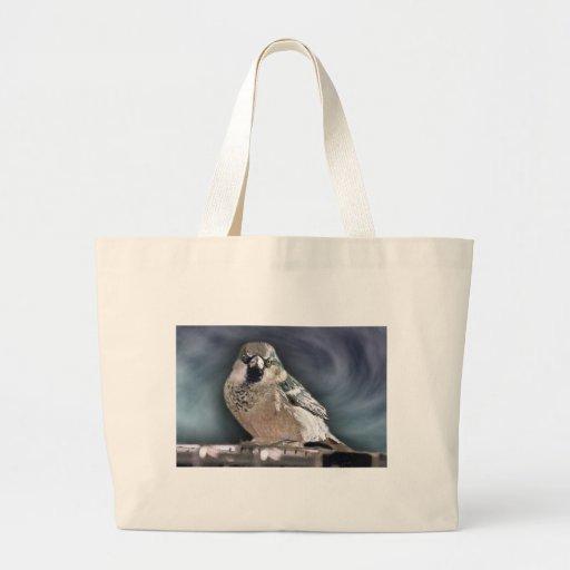 Y su pájaro puede cantar bolsa tela grande