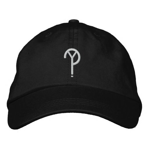 Y?- Symbol Hat- Black (Colors Are Changeable) Embroidered Baseball Hat