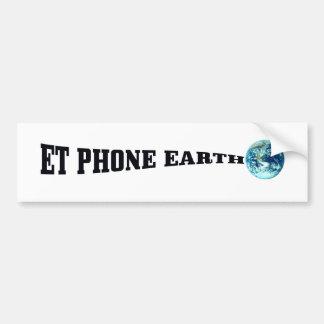 Y TELÉFONO EARTH.png Pegatina De Parachoque