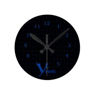 Y - The Falck Alphabet (Blue) Round Clock