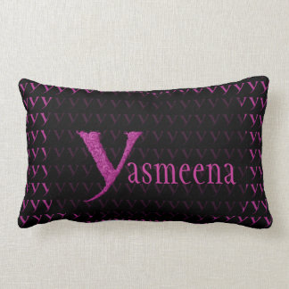 Y - The Falck Alphabet (Pink) Lumbar Pillow