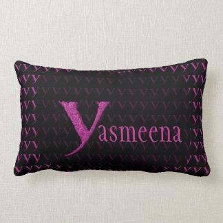 Y - The Falck Alphabet (Pink) Throw Pillow