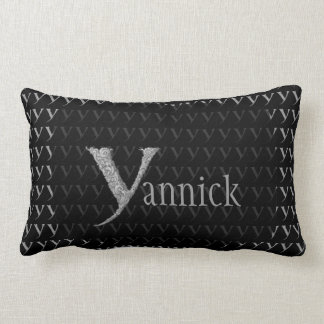 Y - The Falck Alphabet (Silvery) Lumbar Pillow