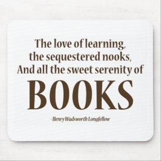 Y toda la serenidad dulce de libros tapete de ratones
