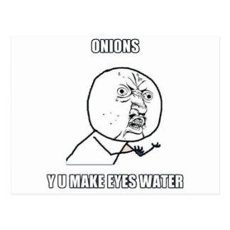 Y U Make Eyes Water Postcard