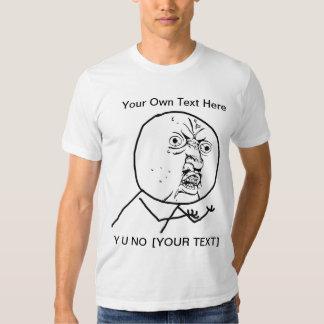 Y U NO - Fitted T-Shirt