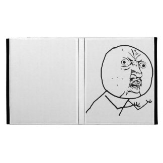 Y U No Guy Comic Face iPad Case