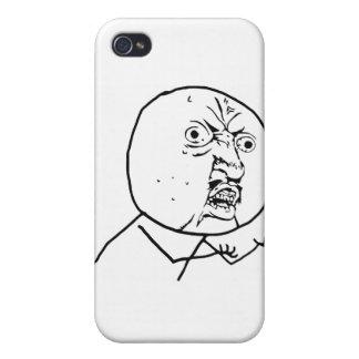 Y U No Guy Comic Face iPhone 4 Case