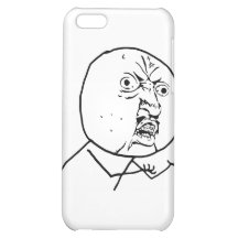Y U No Guy Comic Face iPhone 5C Covers