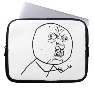 Y U No Guy Comic Face Laptop Sleeves
